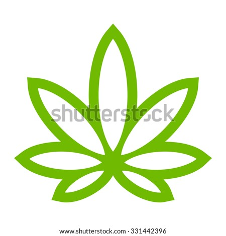 stylized green marijuana pot
