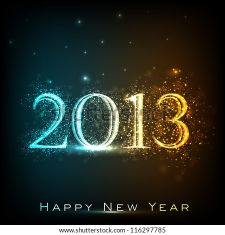 Stylized 2013 Happy New Year background EPS 10