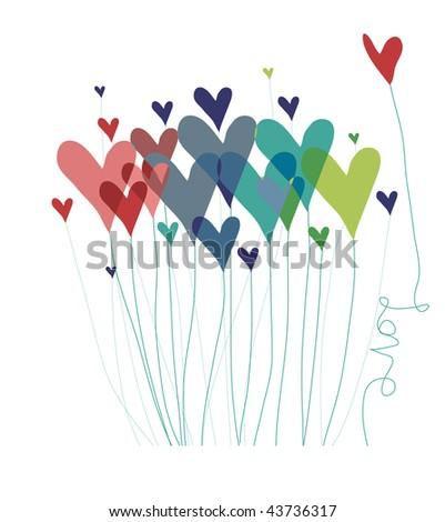 Stylized heart balloon