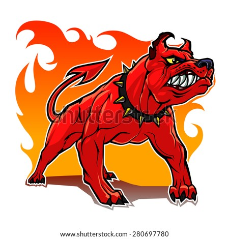 stylized hell dog