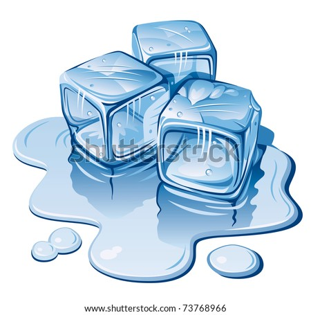 stylized ice cubes on white