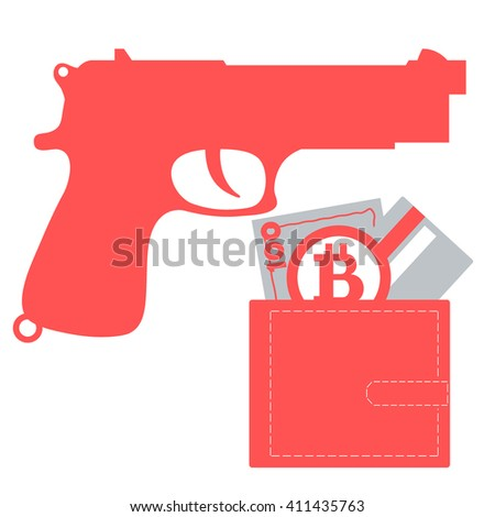 stylized icon of a colored gun