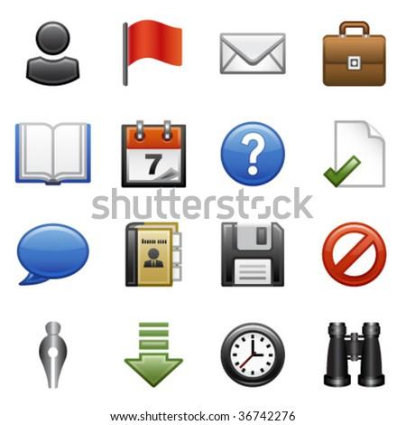 Stylized icons set 01