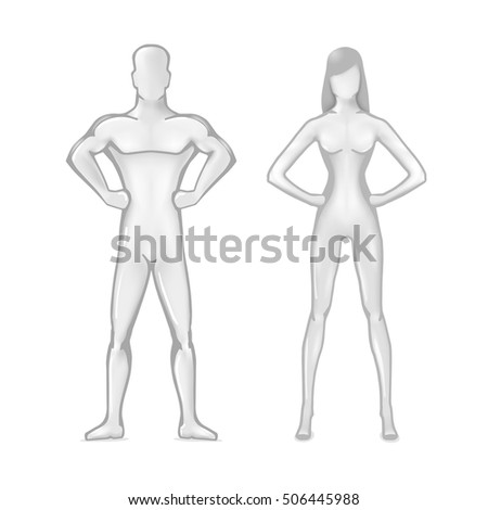 stylized ideal body of man and