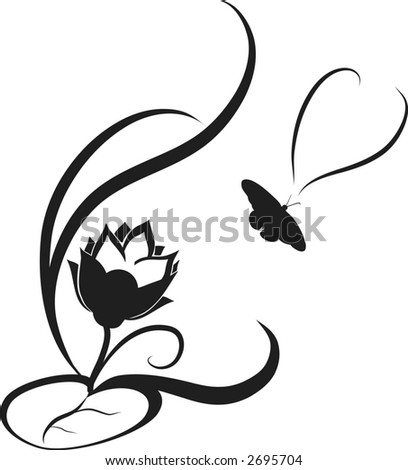 Lotus Flower Picture on Stylized Illustration Of A Lotus Flower Design Element    Stock Vector