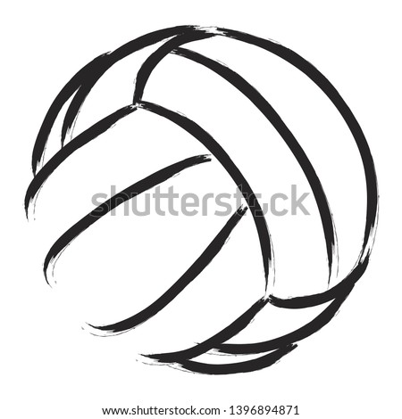 Stylized illustration of a volleyball  background. Sport vector
