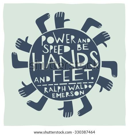 stylized illustration of hands