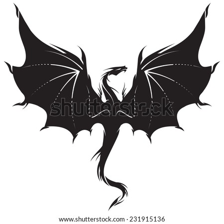 stylized image of dragon in