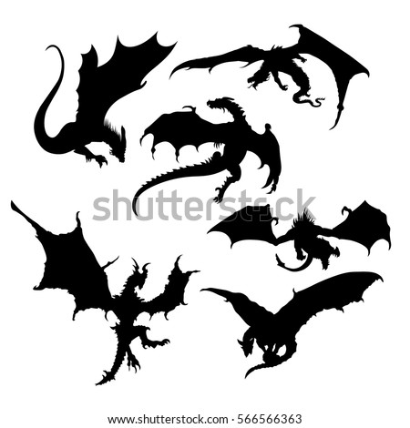 stylized image of dragons in