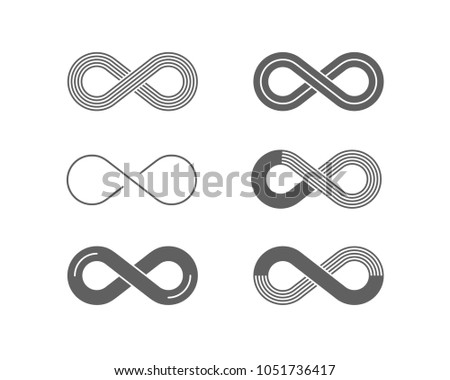 Set Of Outlined Infinity Symbols Download Free Vector Art Stock
