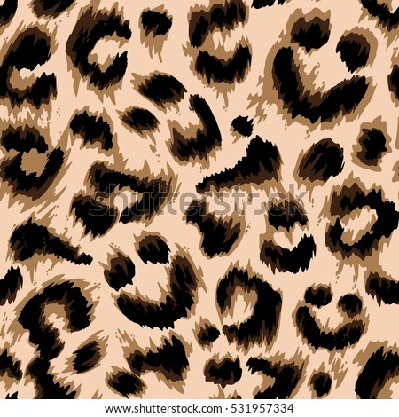 Stylized leopard print wallpaper. Vector repeat pattern.