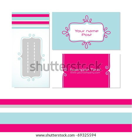 Stylized modern business cards, vector. EPS10 Check portfolio for more.