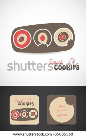 Stylized modern Spiral cookies Icon, Vector EPS10.