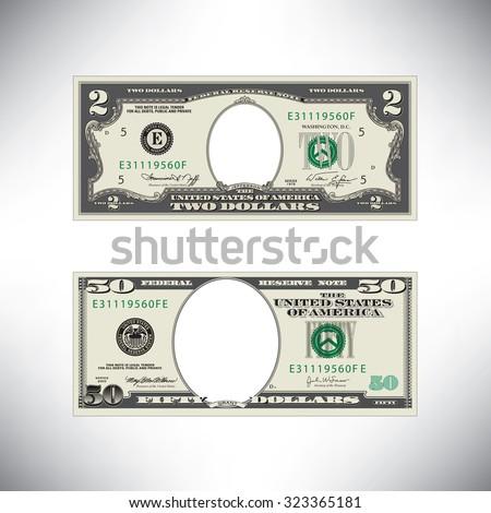 Stylized money loses face