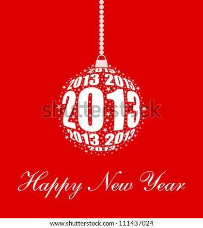 Stylized New Year 2013 Ornament Design (EPS10 Vector)