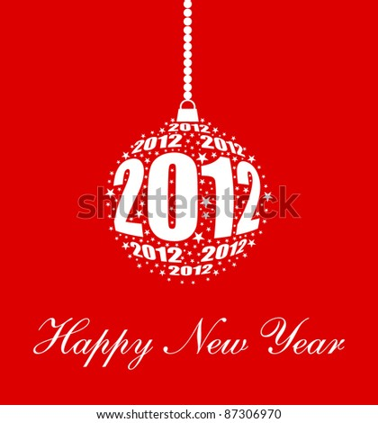 stylized new year 2012 ornament