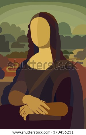 stylized painting mona lisa in