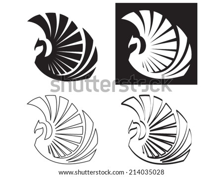 stylized phoenix  vector