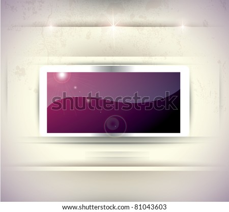 Stylized Plasma (LCD) TV  on Gallery Wall