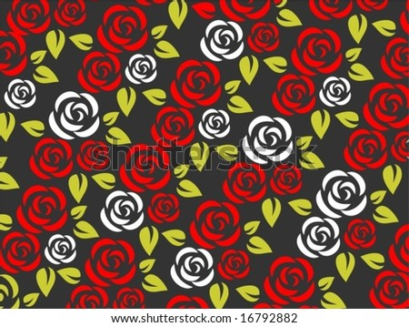 red and white roses background. red and white roses