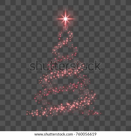 stylized red christmas tree as