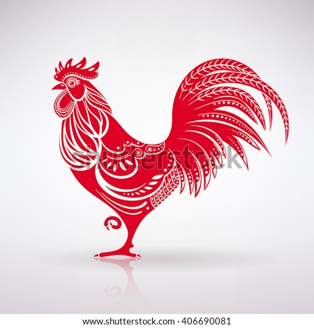 stock-vector-stylized-red-rooster-on-a-light-background