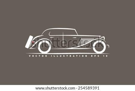 stylized retro car
