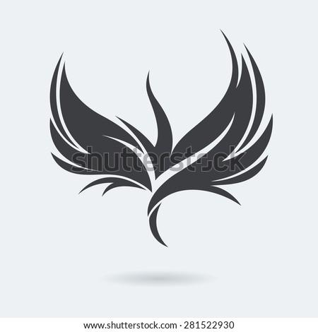 stylized rising flying bird