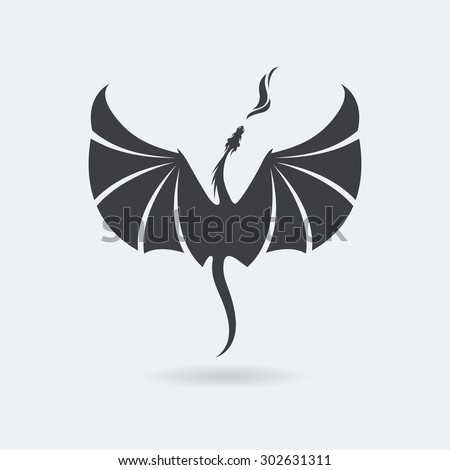 stylized rising flying dragon