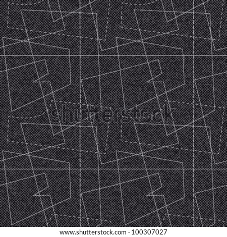 Stylized sewing pattern on textured background