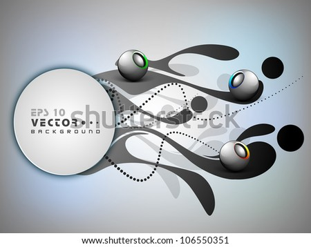 Stylized shiny 3D abstract background. EPS 10. Can be use as label, icon, element.