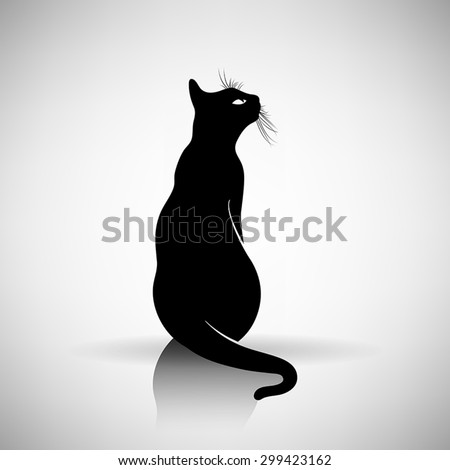 stylized silhouette of a cat on