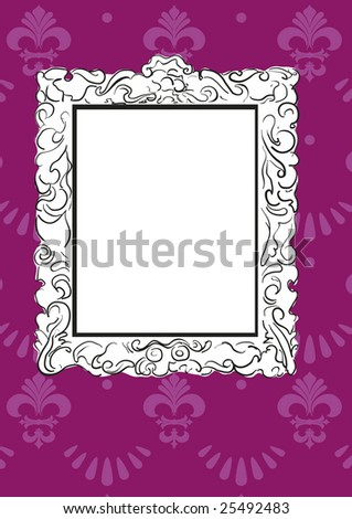 stylized sketch of a victorian frame or mirror