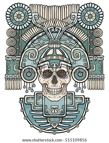 stylized skull pagan god of