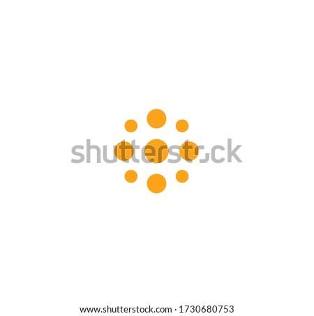 stylized sun minimalistic round