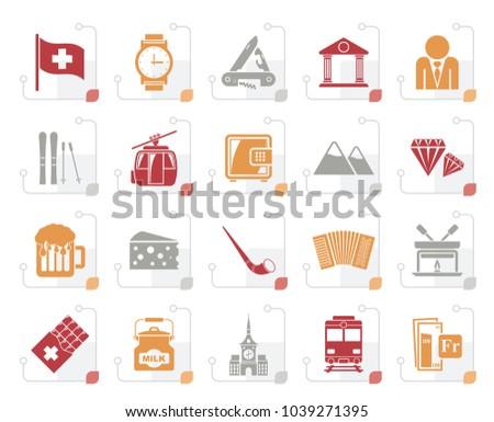 stylized switzerland industry