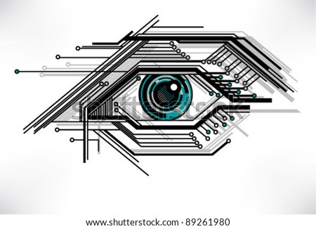stylized technology eye