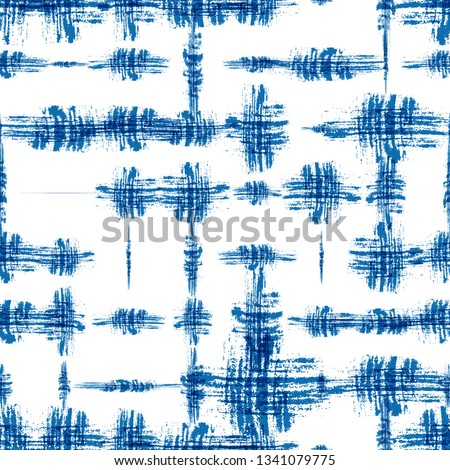 Stylized Tie Dye or Shibori Batik Seamless Pattern. Dirt Ink Strokes Texture. Dirt Fabric Effect Pattern. Sporty Clothes Print Design. Geo Vintage Texture.