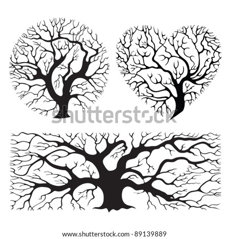 stylized tree silhouettes