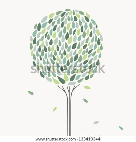 Stylized tree. Vector illustration