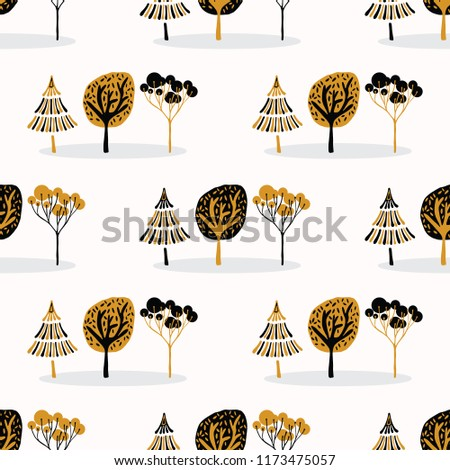 stylized tree wood repeating