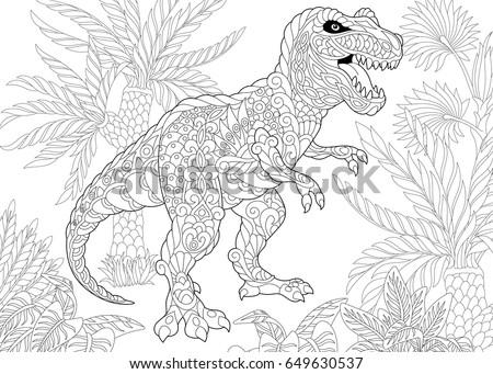 stylized tyrannosaurus  t rex