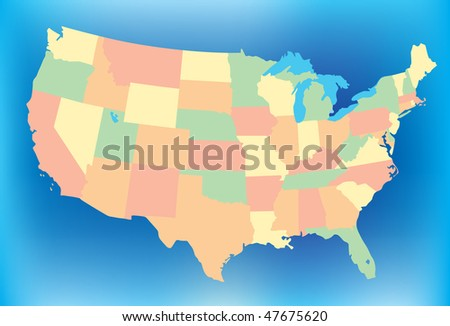 Stylized USA Map