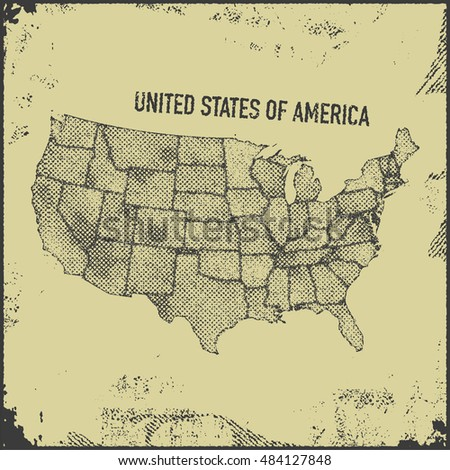 stylized usa map. vector...