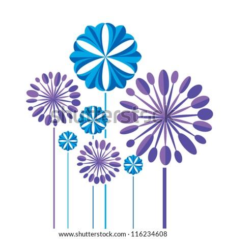 stylized vector cornflowers 2