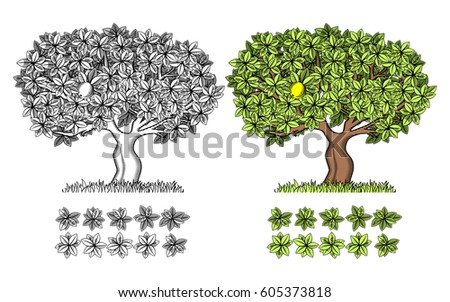 stylized vector wood for