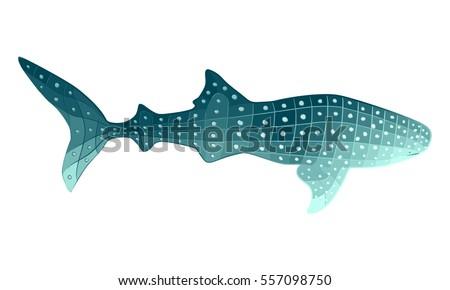 stylized whale shark