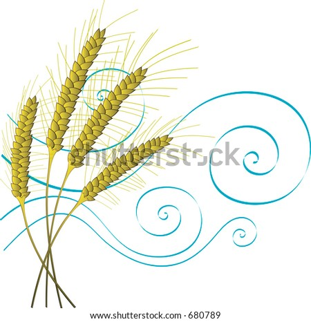 Stylized Wheat and Wind