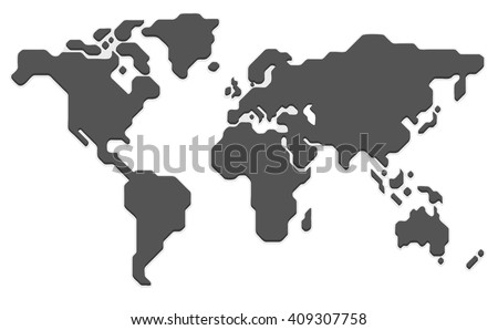 stylized world map modern flat