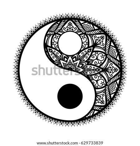 stylized yin and yang tao...